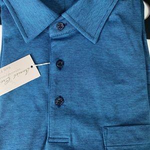 New Daniel Cremieux blue golf polo shirt